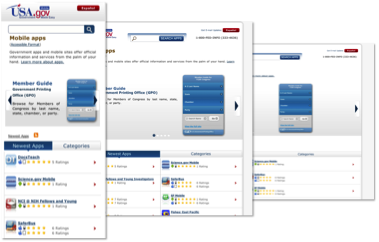 USA dot gov Responsive Design Apps Gallery