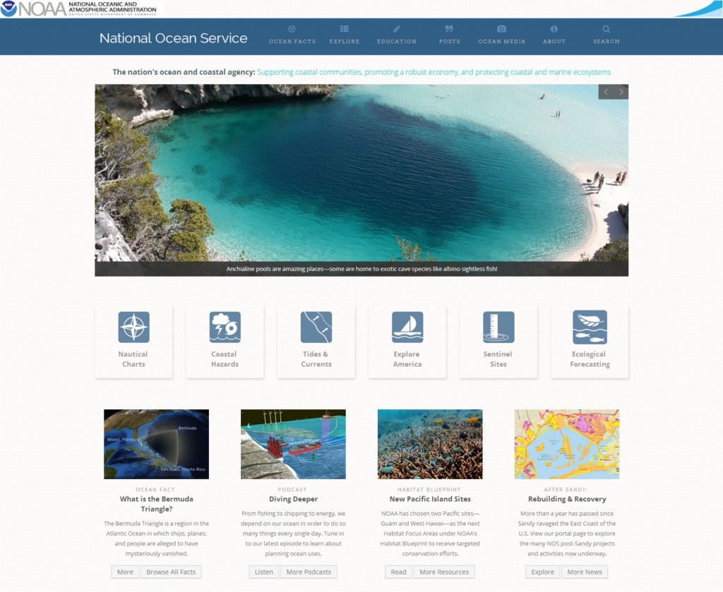 NOAA's National Ocean Service was the first line office within NOAA to launch a homepage that incorporates responsive design. Now, the office's nautical charts and tides and currents information are within easy reach to mariners and boaters of all kinds.