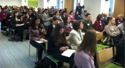 Audience in chairs at the UX Summit