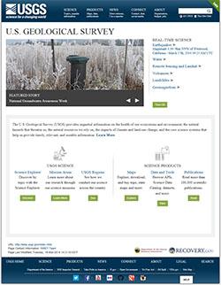 screenshot of beta.usgs.gov