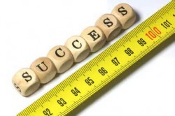 measuring tape next to the word success