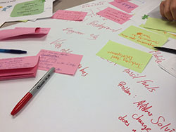 photo of post-it notes and papers for ideas