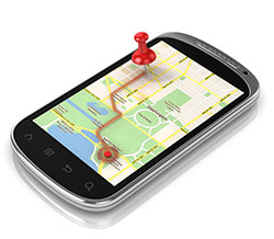 Smart phone navigation map
