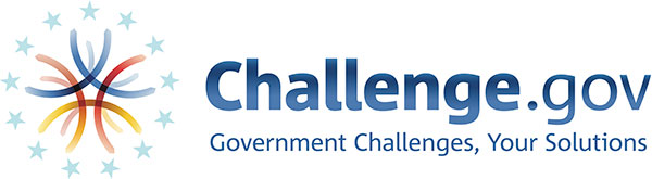 Full logo for Challenge.gov with the tagline: Government Challenges, Your Solutions.
