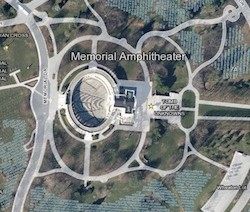 Map of Arlington National Cemetery showing Tomb of the Unknown Soldier