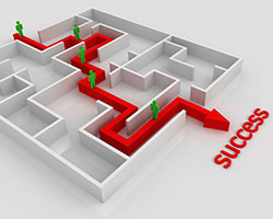The road to success depicted as a maze. Photo credit: Lihua Peng/iStock/Thinkstock