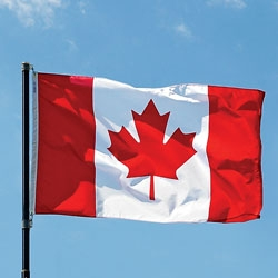 A photo of the Canadian flag