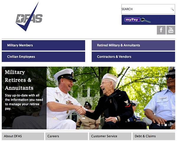 DFAS homepage Responsive Screenshot