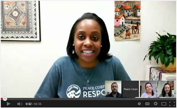 Peace Corps Google Hangout