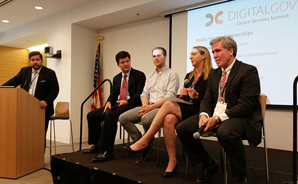 DigitalGov Citizen Services Summit and Expo - Justin Herman, GSA - Panel 3: Public Private Partnerships - Jack Bienko, SBA; Phil Ashlock, DataGov; Lynn Overmann, White House OSTP; Mike Reardon, DOL