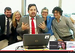YouTube screen capture of June 30, 2014 SocialGov Google Hangout