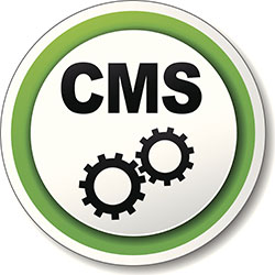 A round CMS icon