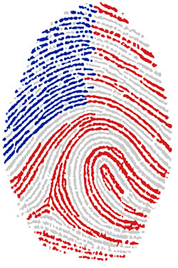 The American flag as a fingerprint