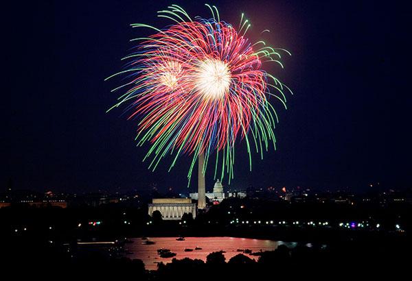 Fireworks over Washington, D.C., July 4, 2007 by Carol M. Highsmith