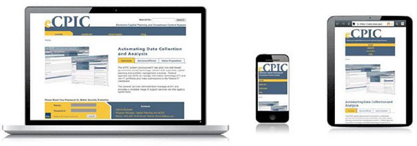 Responsiveness-in-action on the Electronic Capital Planning and Investment Control System's Sites.usa.gov site.