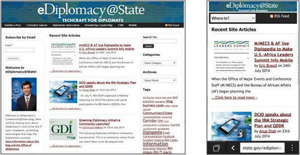A Communities@State blog that is now mobile-friendly.