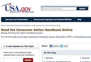 Consumer Action Handbook – Usability Case Study