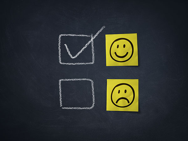 Happy or positive feedback smiley face icon