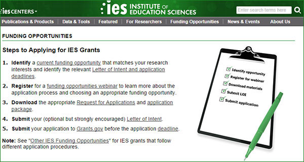 Revised IES.ED.GOV/Funding