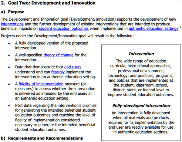 Sample of Definitions Provided in RFA (Education Research 84.324A)