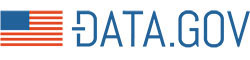 Data.gov logo with AMerican flag