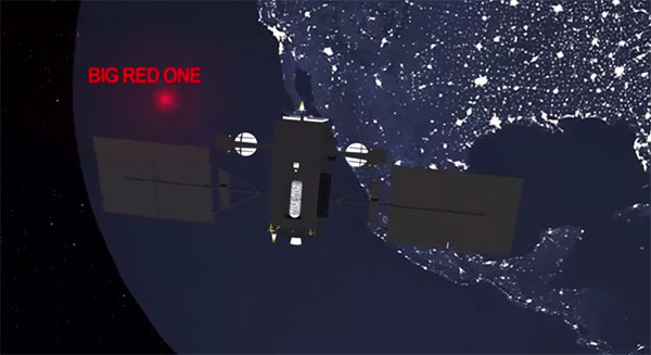 NORAD Santa Tracker Big Red One Satellite, from YouTube