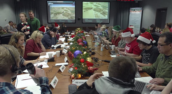 NORAD Santa Tracker volunteers, from YouTube