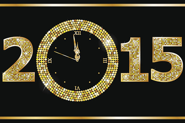 2015 New Year countdown clock