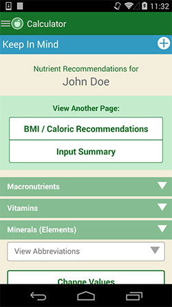 250-x-445-USDA-DRI-Calculator-for-Healthcare-Professionals-Android-app-personal-page