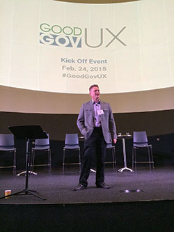 Keith Deaven from Mediabarn kicks off the GoodGovUX event