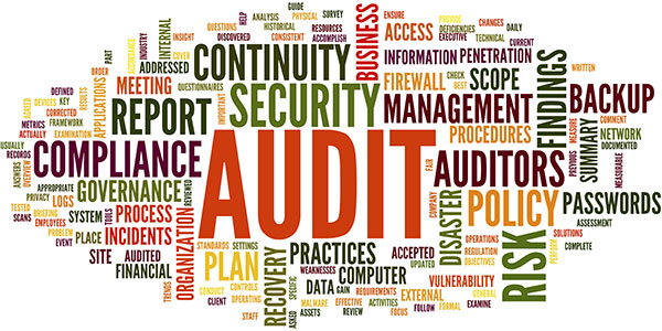 Audit and compliance in word cloud