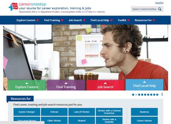 CareerOneStop homepage