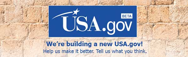 USa.gov Beta banner for new website