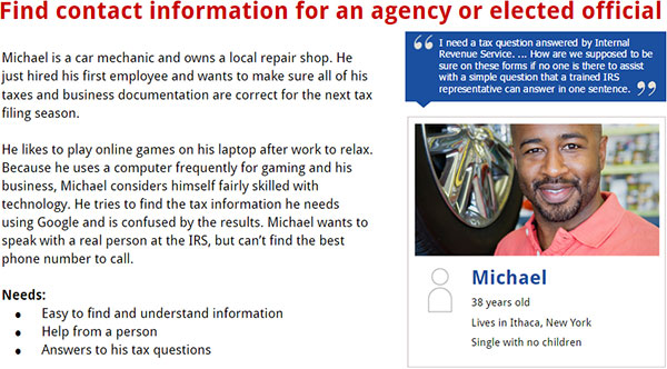 Slide 5, Find contact information for an agency or elected official