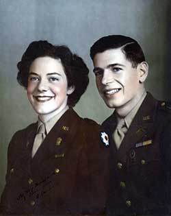 1st Lieutenant Paul Donald Meyer and his wife, Elaine.
