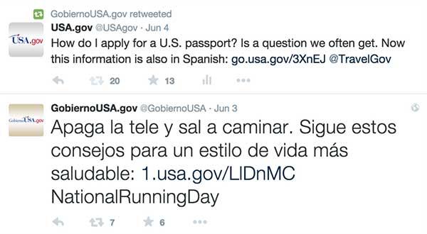 Bilingual tweets