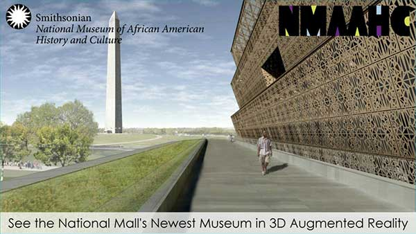 National Museum of African American History and Culture (NMAAHC) app's home screen as seen on an Android phone