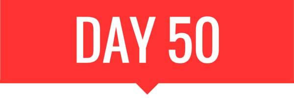 Day 50 banner