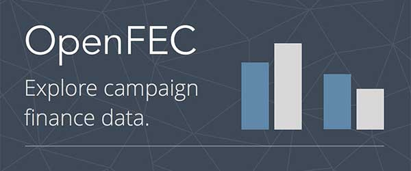 Federal Election Commission (FEC) OpenFEC banner for exploring campaign finance data