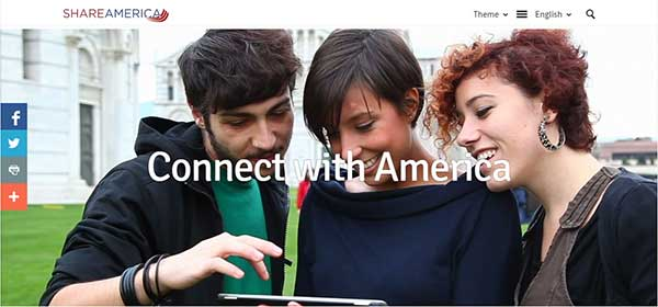 ShareAmerica video of people connecting through social media.