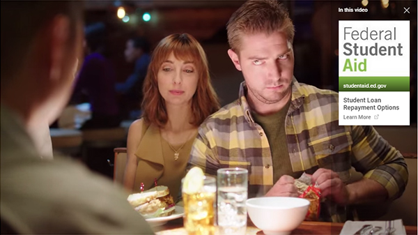 Video screenshot from Matt and Mike ad for Awkward Restaurant Moment