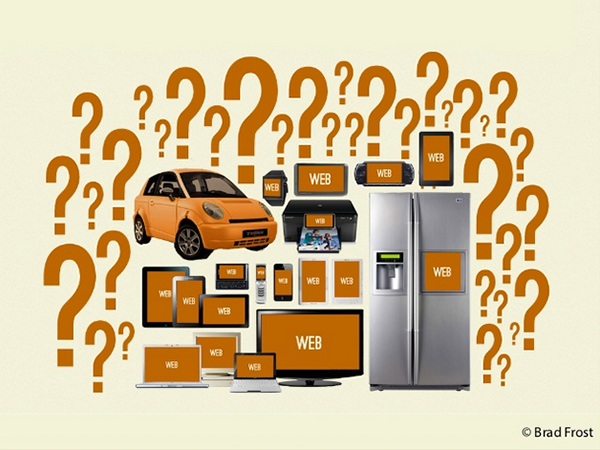 Concept graphic by Brad Frost shows various devices and appliances with web screens