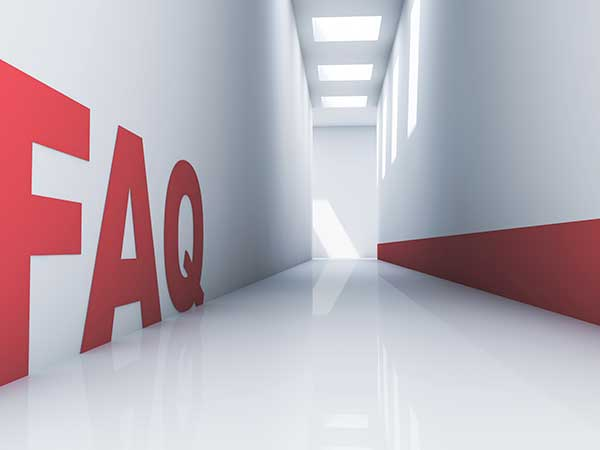 A Frequently asked questions hallway