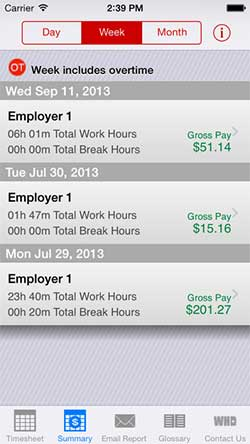 U.S. Department of Labor Timesheet App