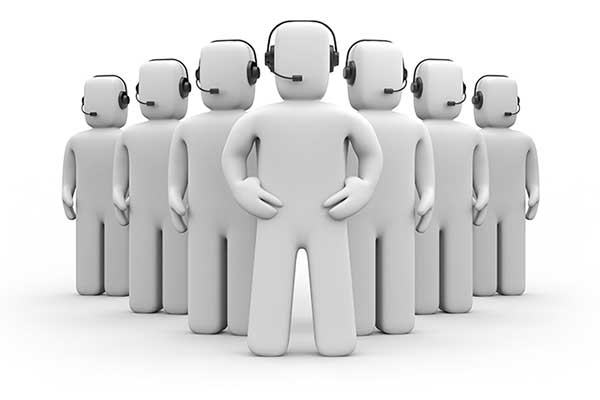 Team of call center figures