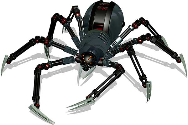 Illustration of a robot spider
