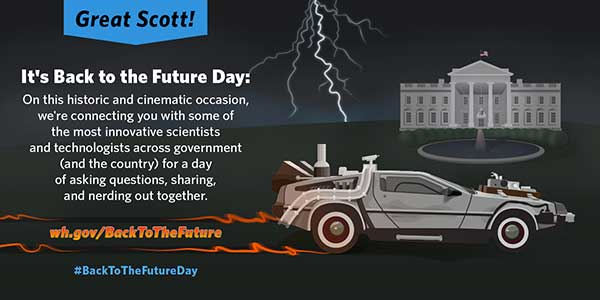 White House's Back To The Future Day graphic