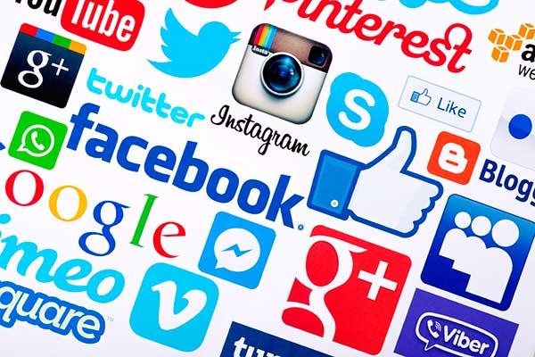 Social media logos and icons