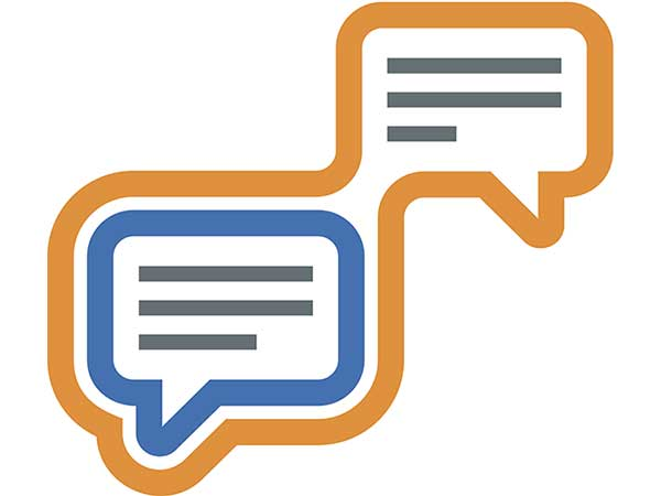 Modern conversation social network community logo icon