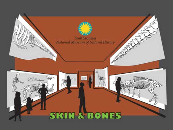 The home screen of the Smithsonian Skin and Bones iPad app